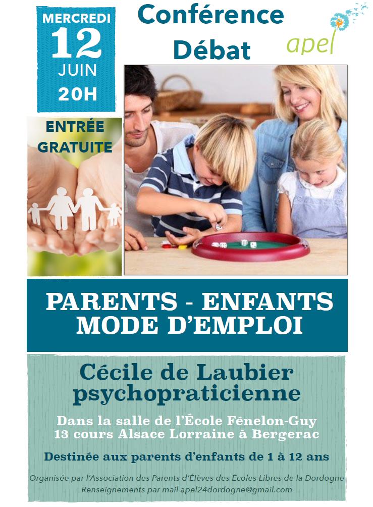 conférence : Parents mode d'emploi